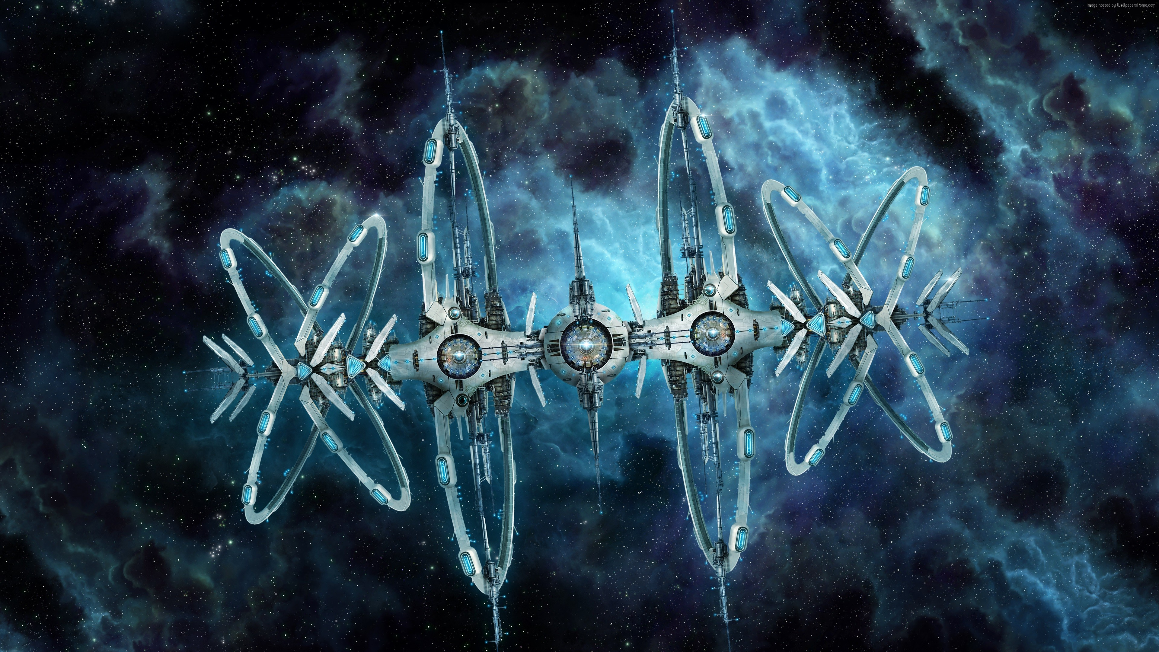 Wallpaper Starpoint Gemini 2 game SPG SP space station 3840x2160