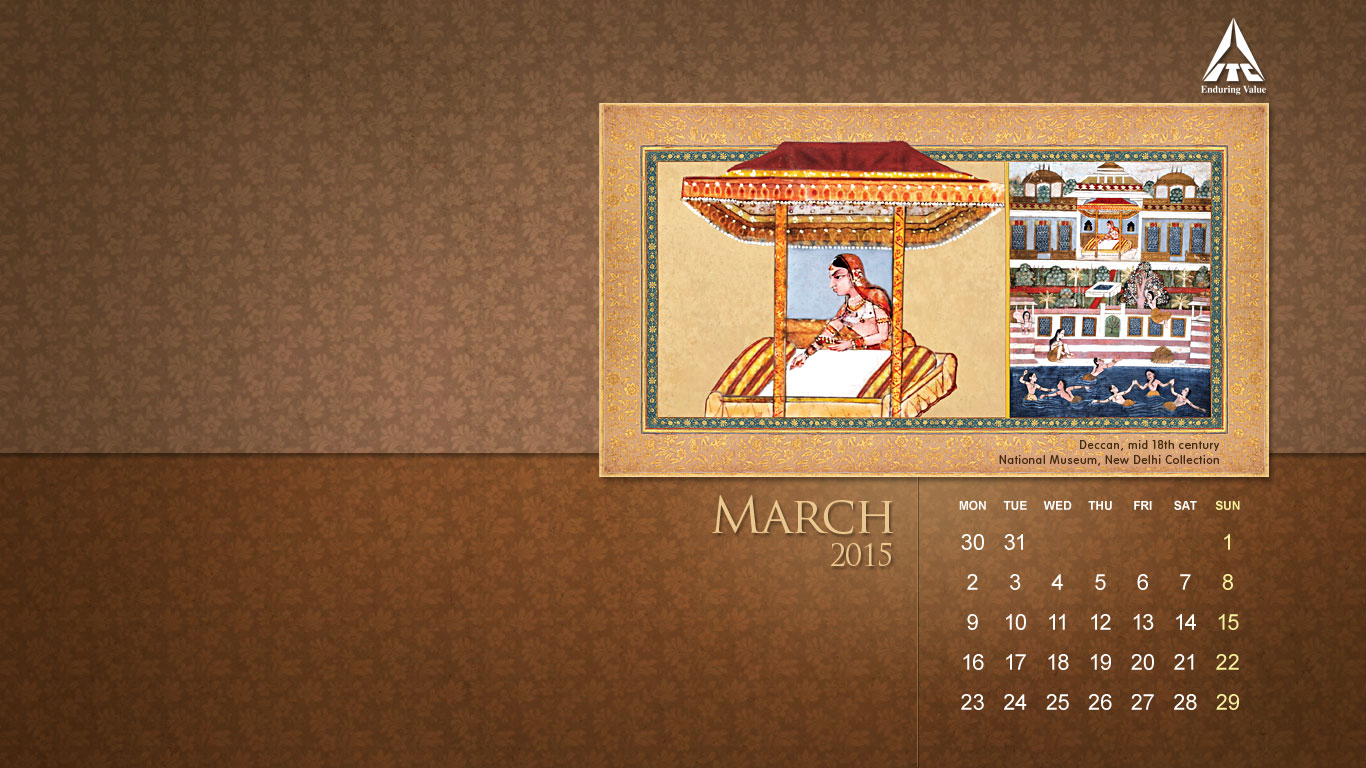 2015 March Calendar Wallpaper Crosscards Wallpaper Monthly Calendars 1366x768