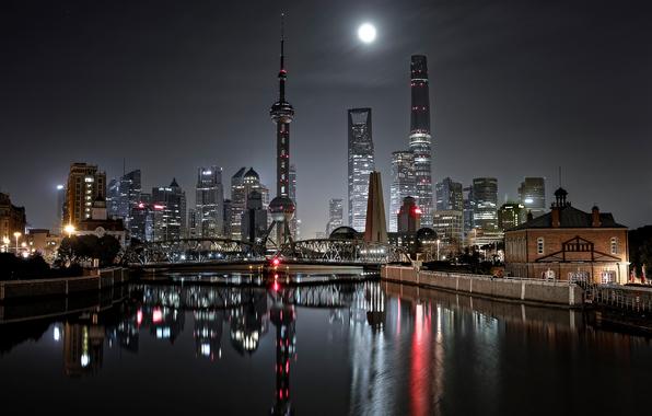 Wallpaper china city shanghai bridge night lights wallpapers city 596x380
