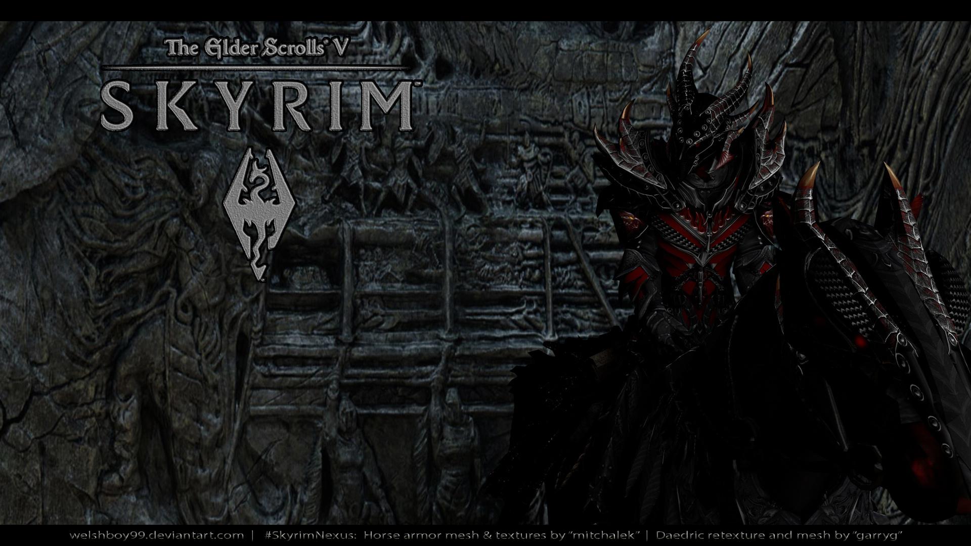 Free Download Skyrim Daedric Main Menu Replacer At Skyrim