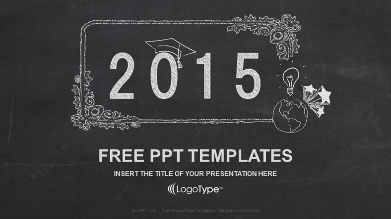 Free Download Happy New Year 2015 In Blackboard PPT