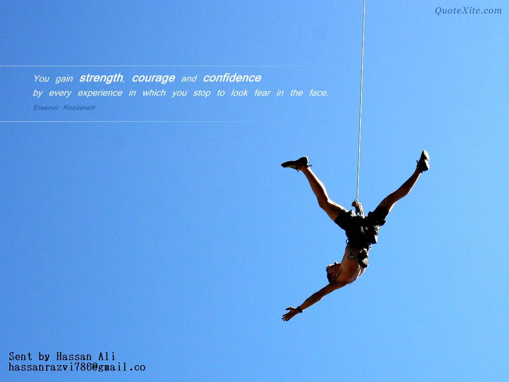 Motivational Wallpaper on No Fear You gain strength Dont Give Up 1024x768