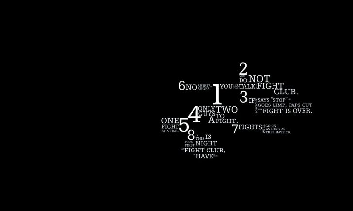 quotes fight club typography 1600x1200 wallpaper Movie Fight Club HD 728x436