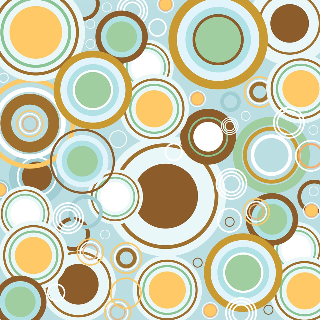 Retro Circles Vector Pattern 1024x1024