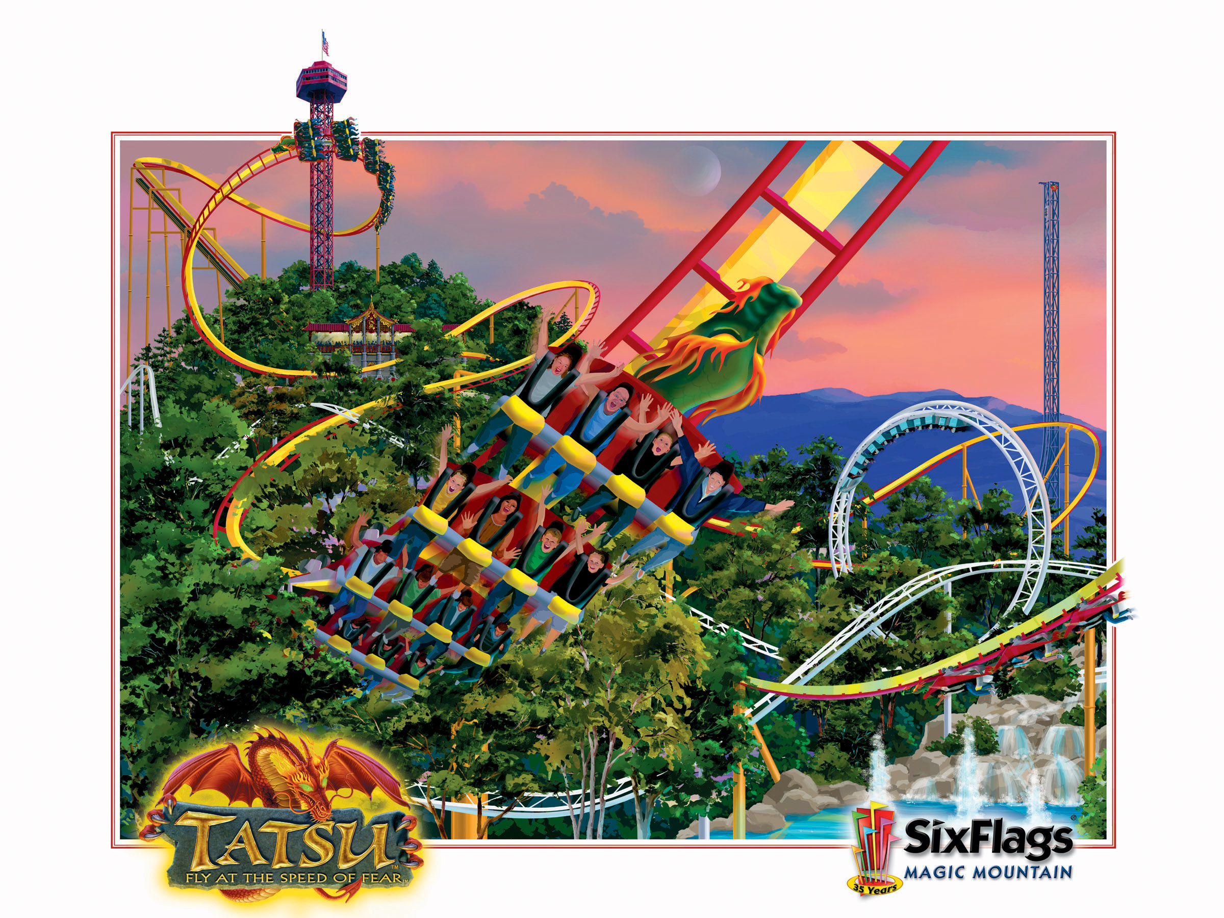 Six Flags Magic Mountain Photos 2400x1800
