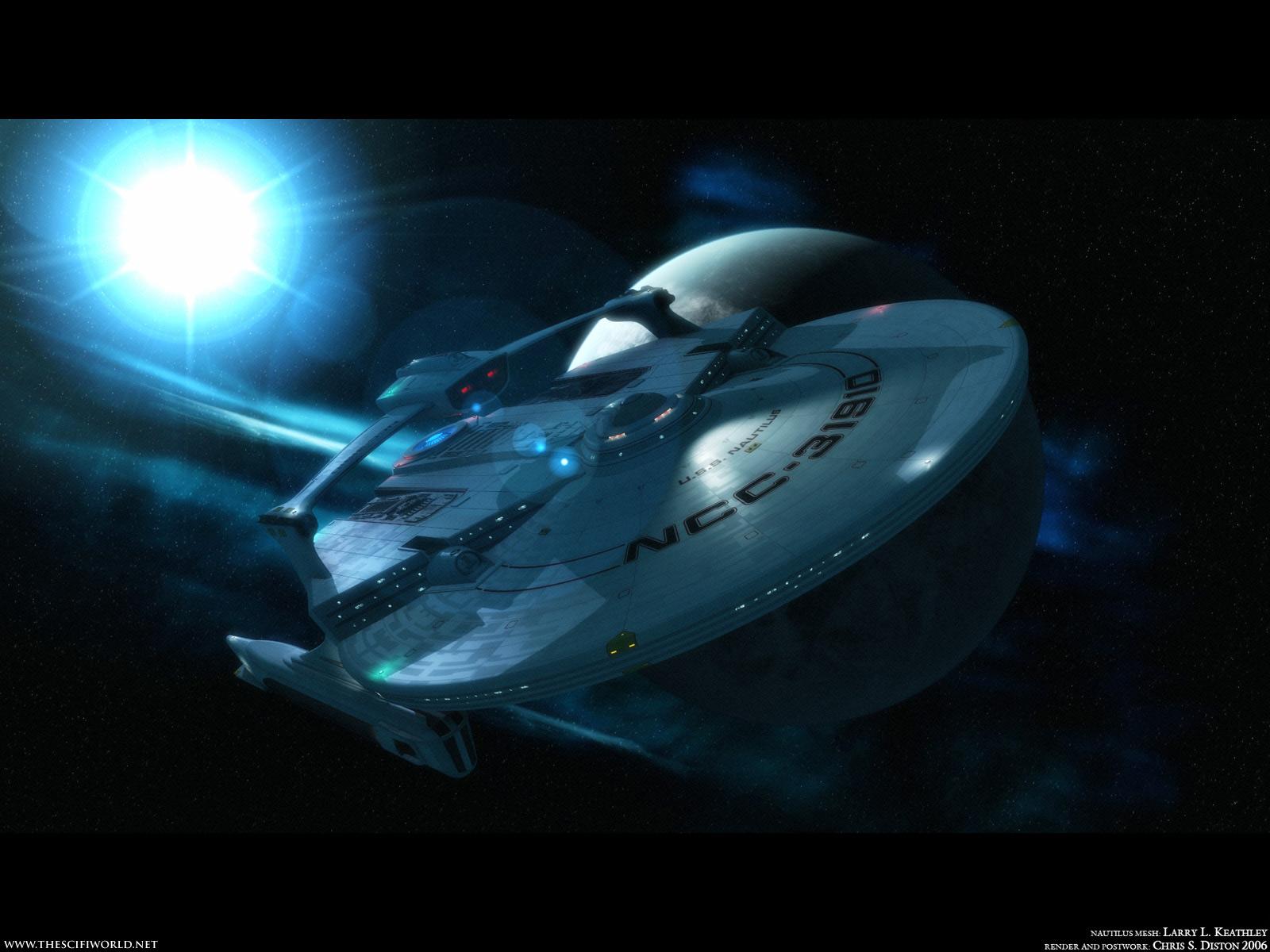 Download Star Trek TNG wallpaper Starship Nautilus NCC 1600x1200