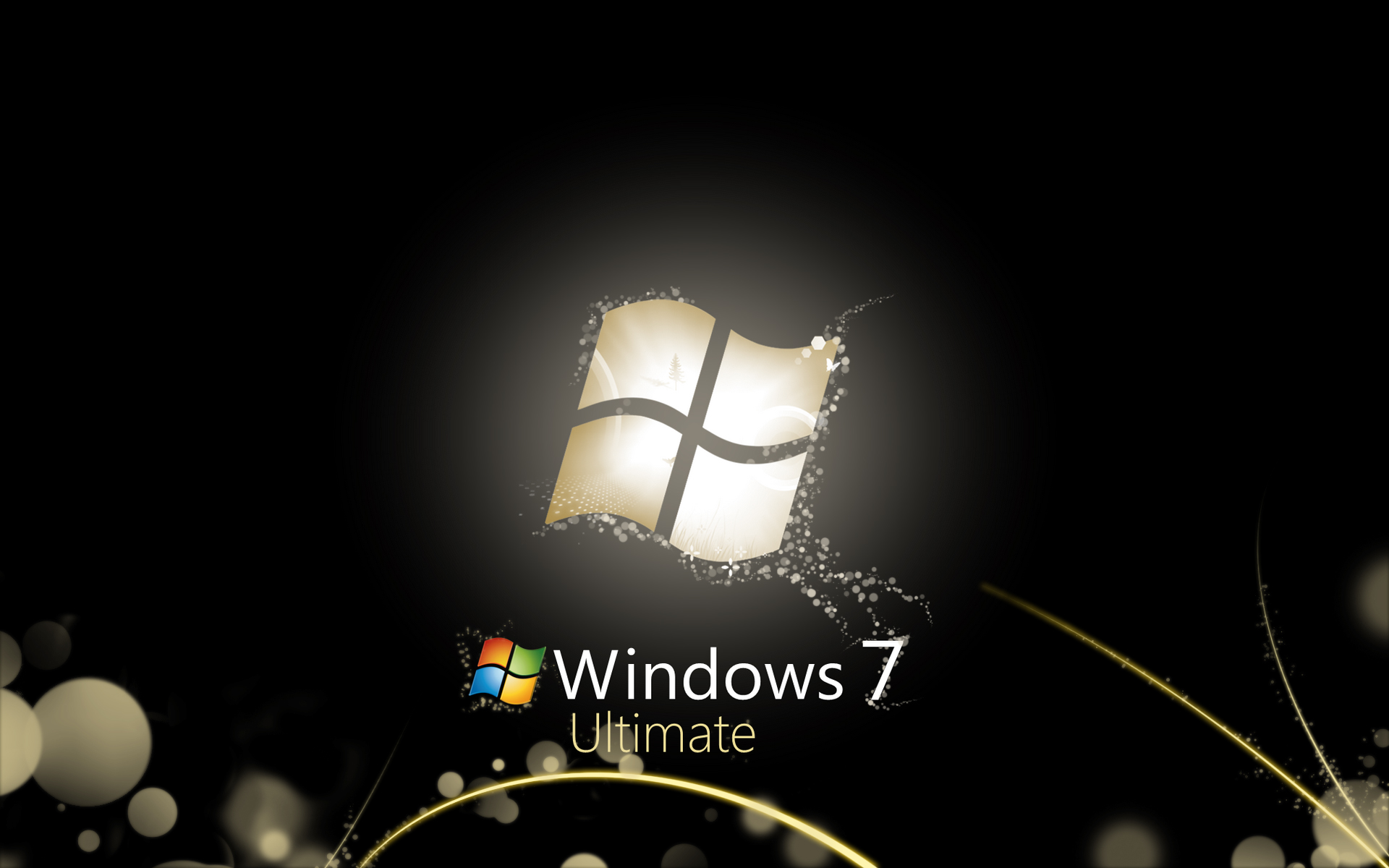 Windows 7 Black wallpaper   103854 1920x1200