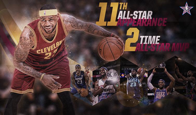 LeBron James Named 2015 NBA All Star Game Starter Cleveland 754x442