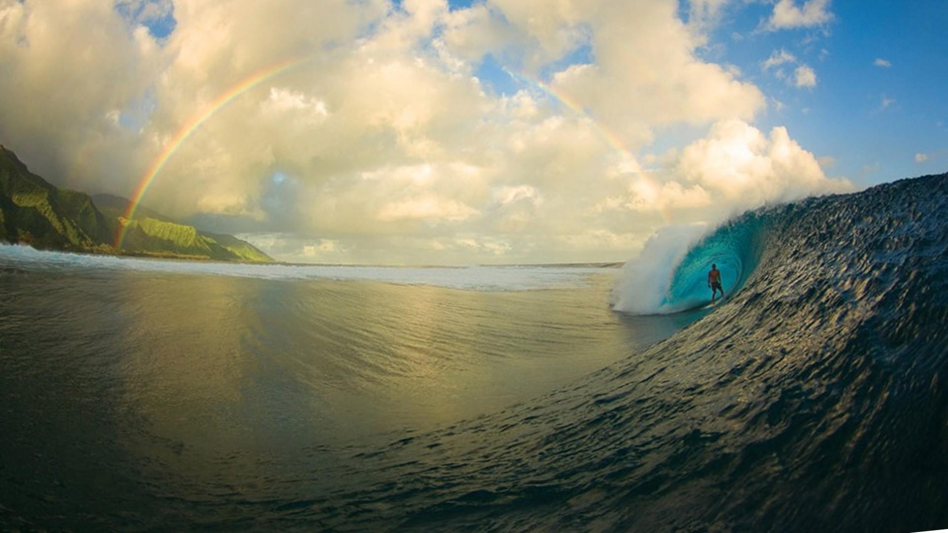природа волна радуга вода  № 1039492 без смс