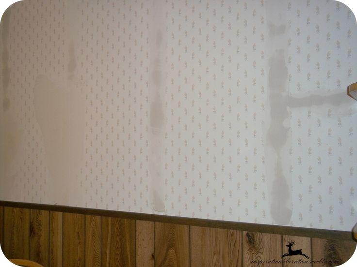 How to paint over wallpaper Very good tutorial DIY Pinterest 736x552
