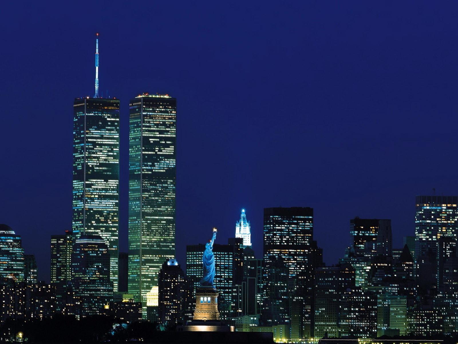 night WTC World Trade Center desktop wallpaper World GoodWP 1600x1200