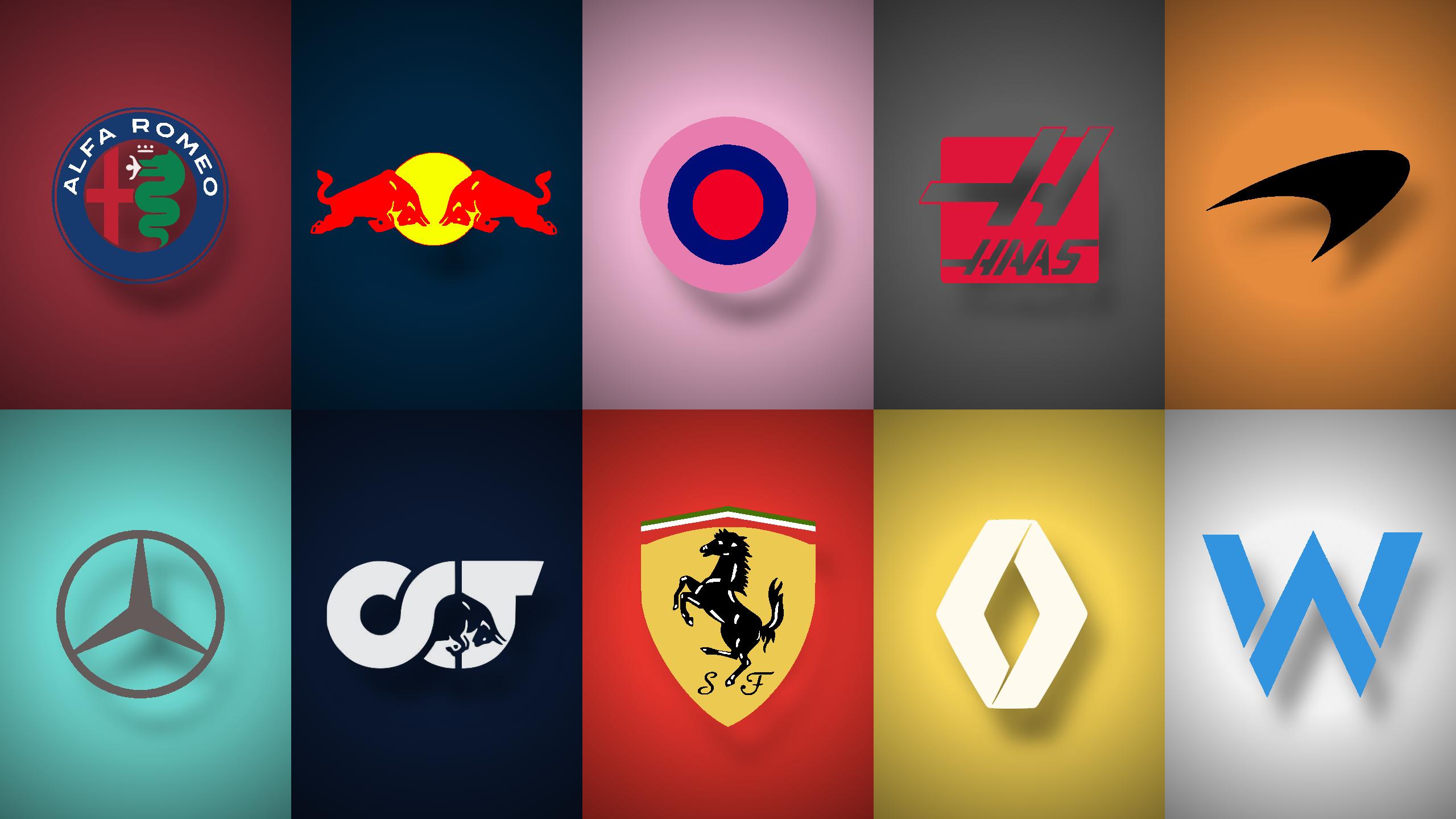 F1 Team Logos Wallpaper formula1 2560x1440