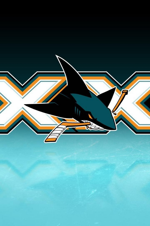 Sharks logo   Download iPhoneiPod TouchAndroid Wallpapers 640x960