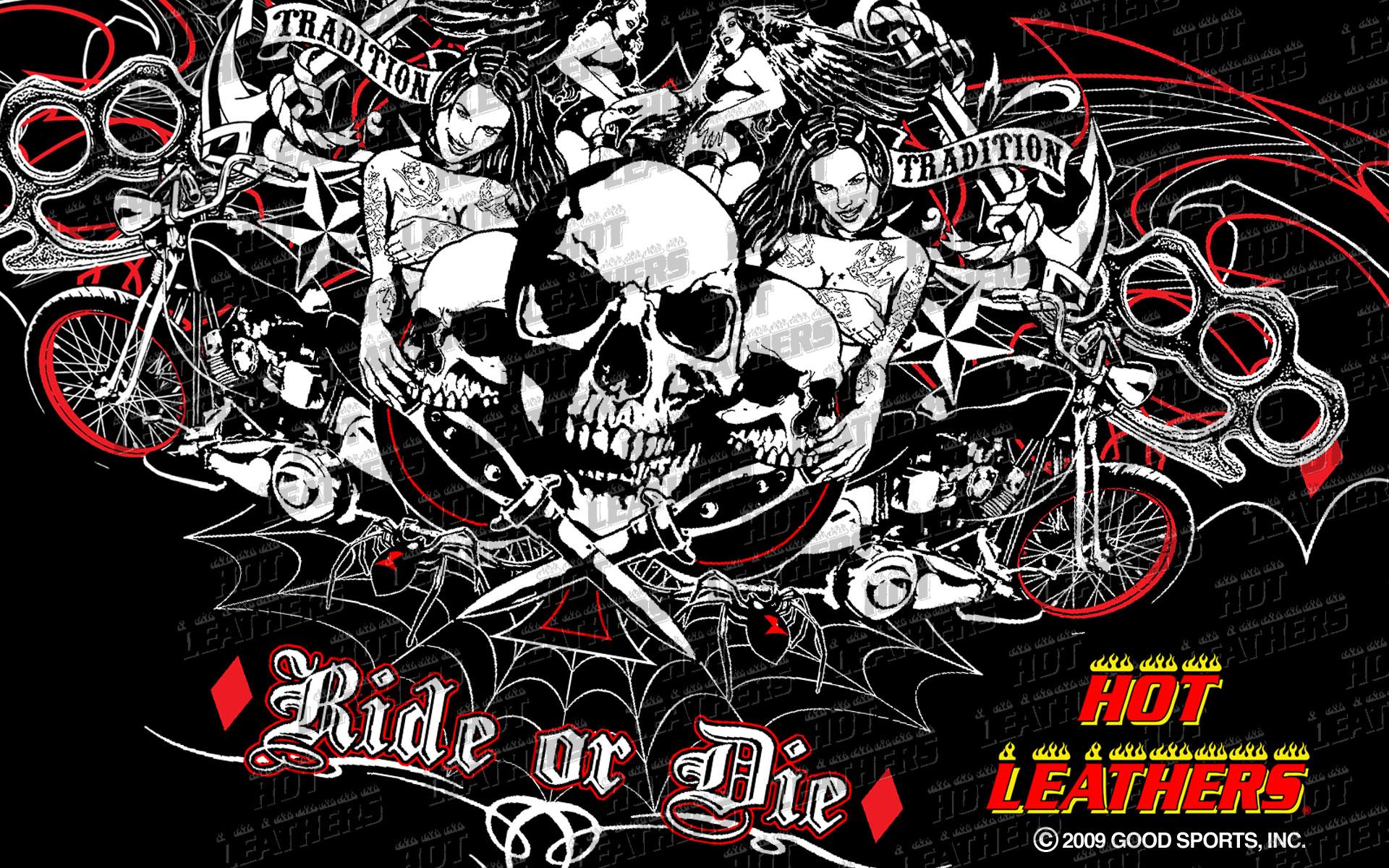 Biker Wallpapers And Motorcycle Desktops Skull 2nd