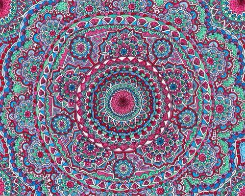 Mandala Coloring Wallpaper WallpaperSafari