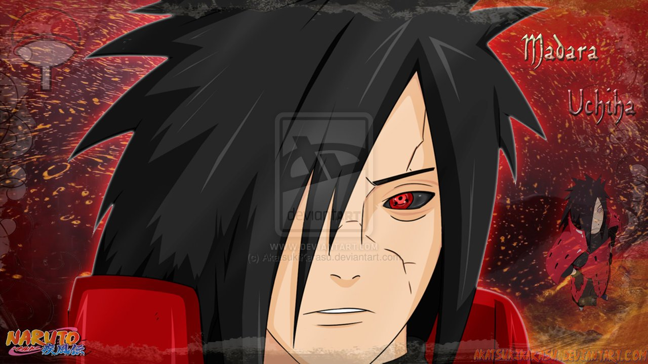 Madara Uchiha Wallpaper 1366x768 by AkatsukiKarasu 1280x720
