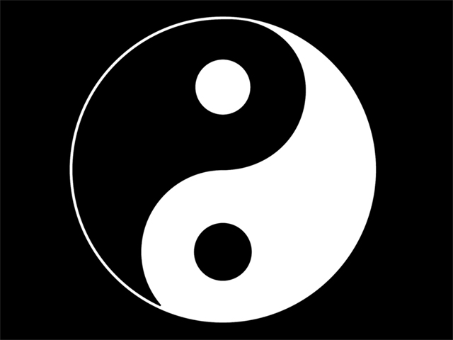 Ying Yang Wallpaper by pixelworlds 640x480