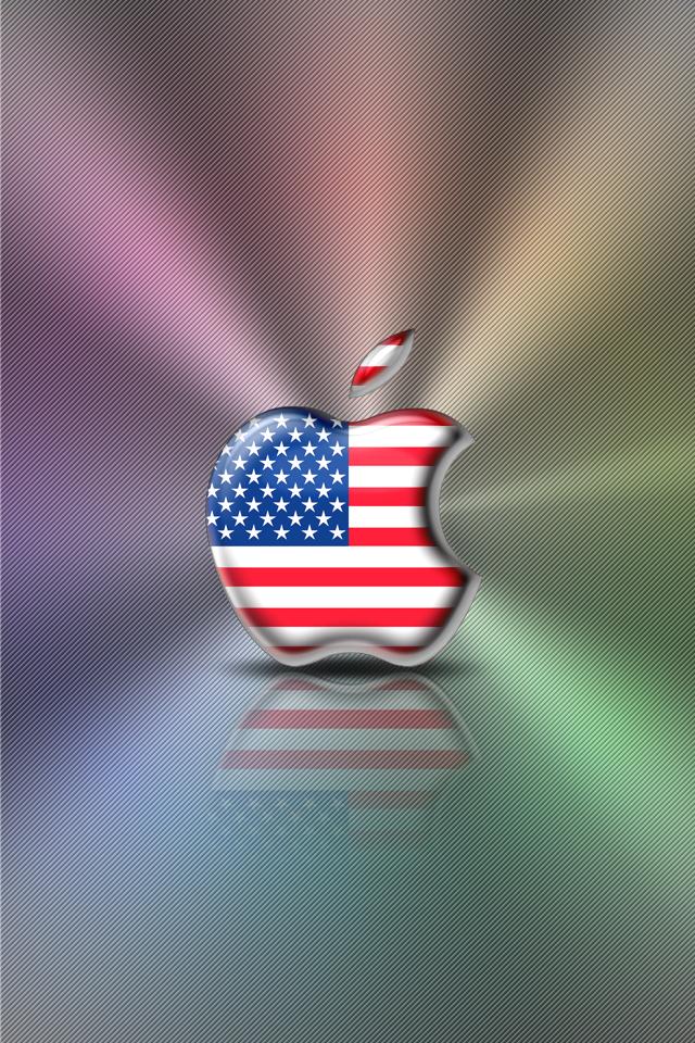 American Flag Wallpaper Iphone 5 Iphone wallpaper   flag series 640x960