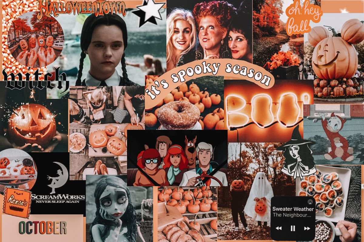 halloween computer screen collage in 2020 Laptop wallpaper 1200x800