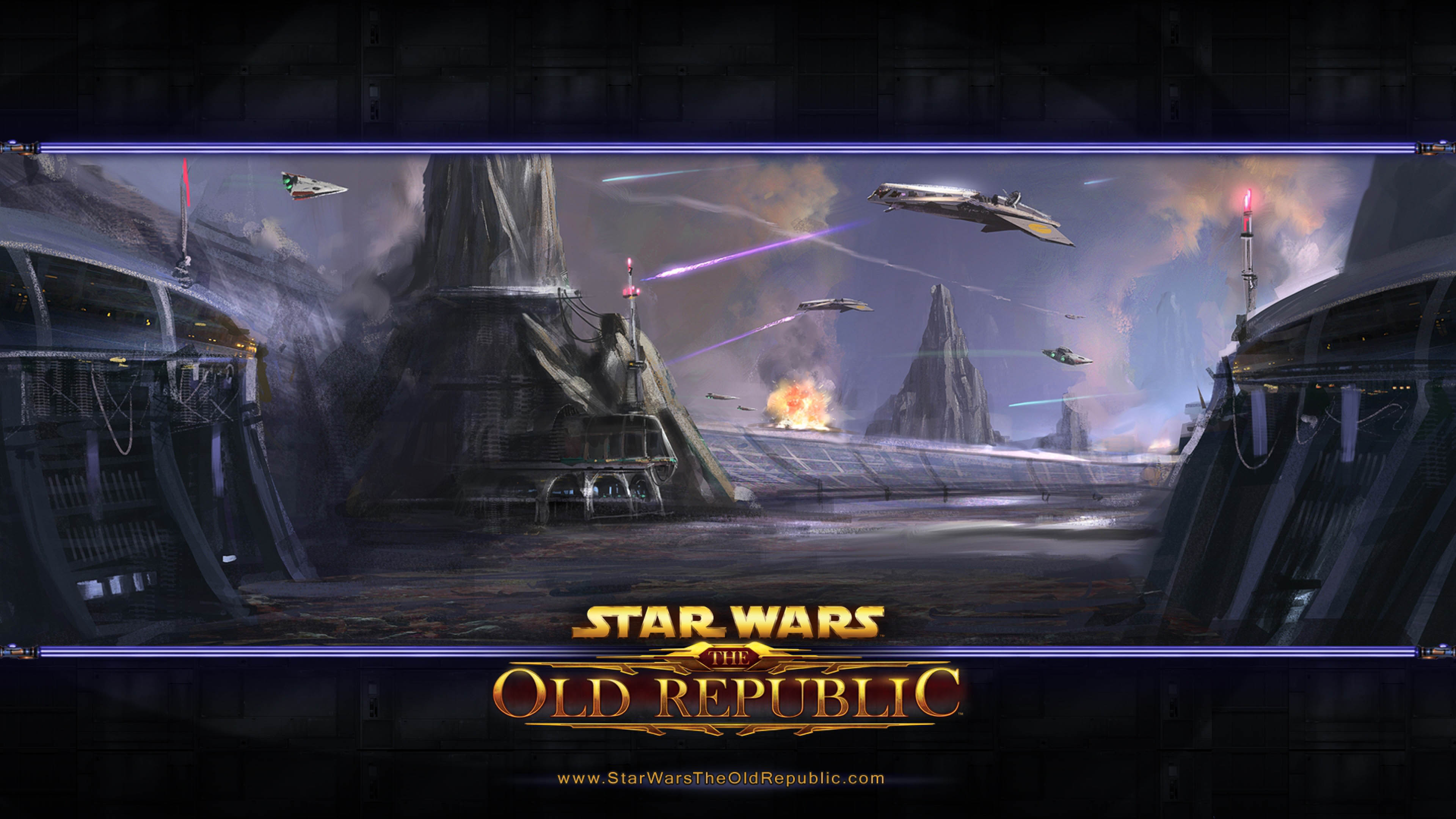 Star Wars The Old Republic   Landscape Artwork 3840x2160 wallpaper 3840x2160