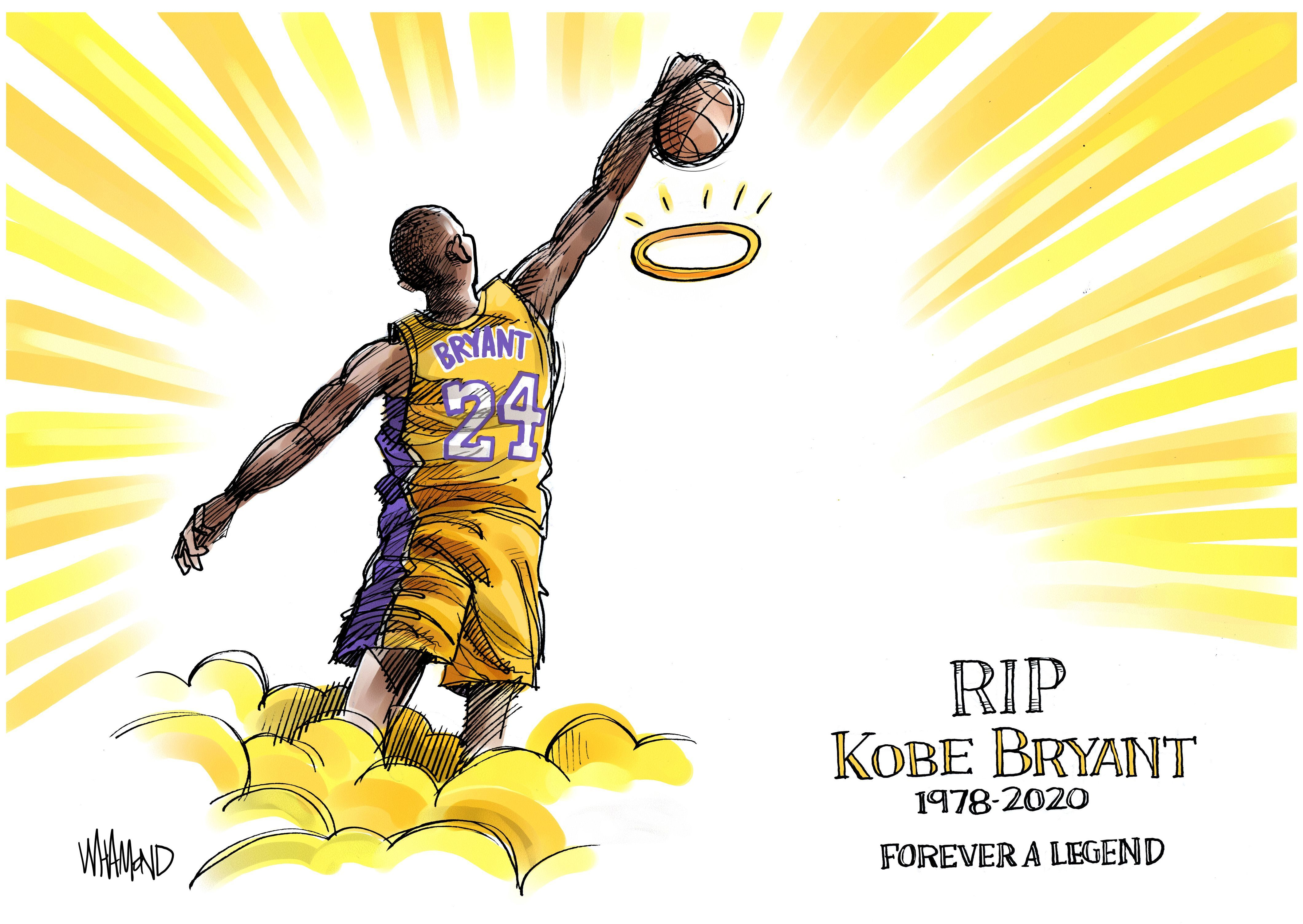 Kobe Bryants Death Memorialized By Artists Around   Kobe Bryant 4240x3008