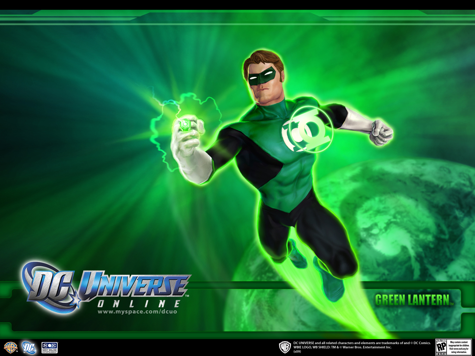Lantern   Superhero Games Wallpaper Image featuring Dc Universe Online 1600x1200