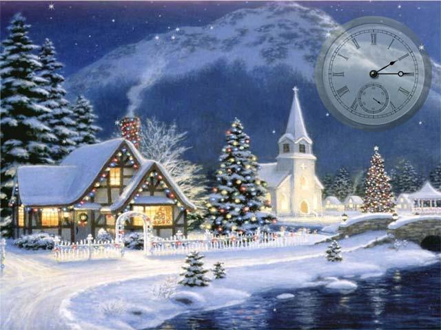 free christmas vacation screensaver 1 0 christmas clock screensaver 640x480