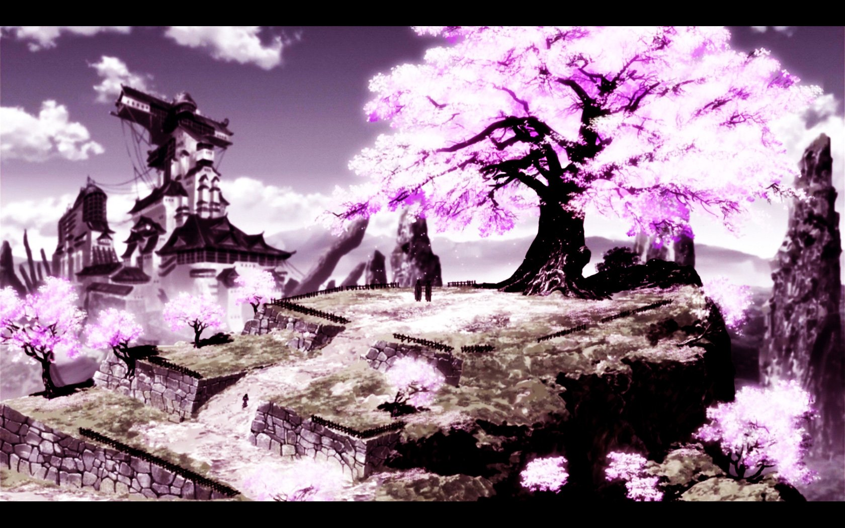 Anime Anime Scenery Cherry Tree Anime Scenerie Kawaii Anime 1680x1050