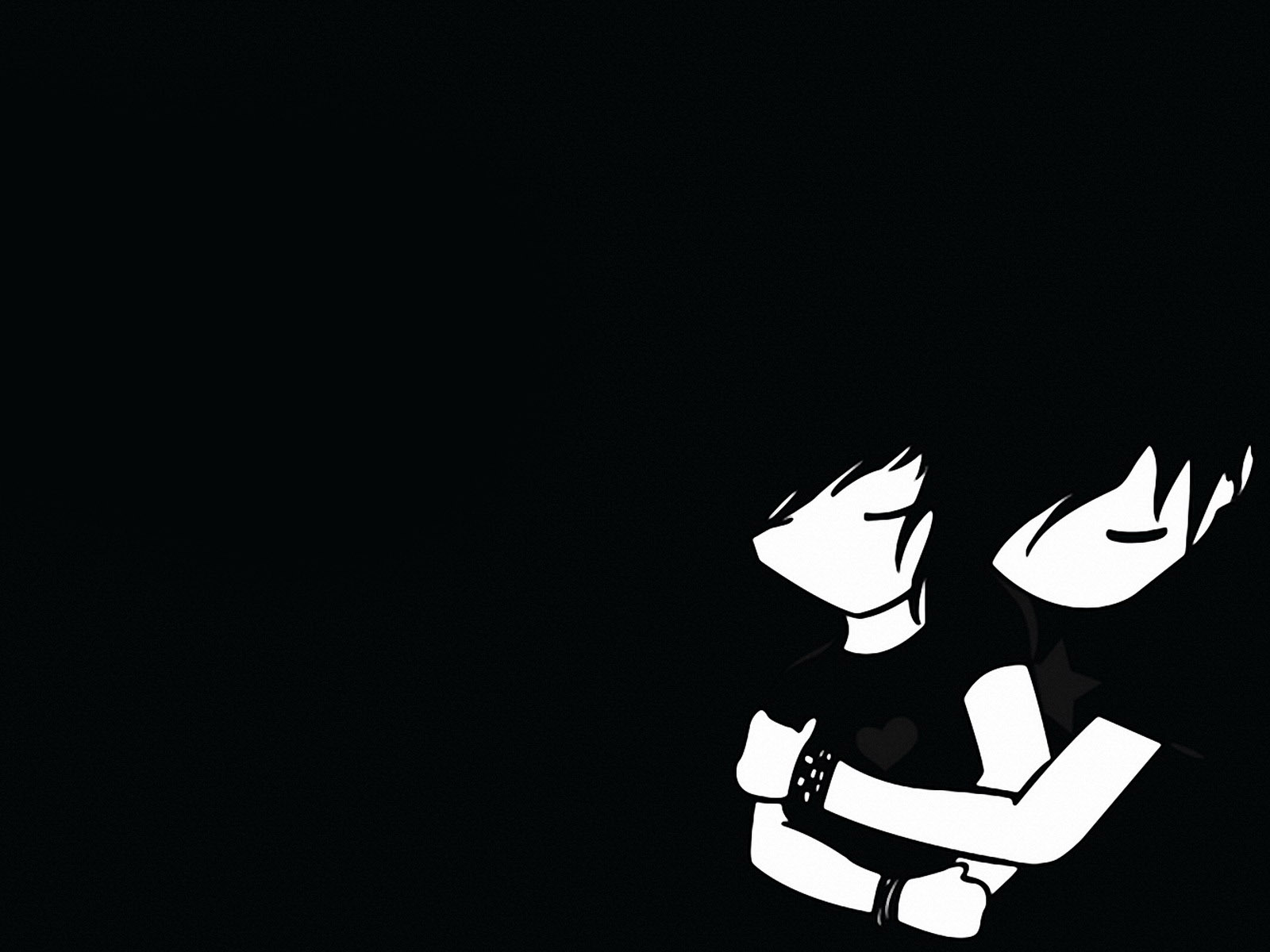 Emo boy and girl wallpapers Emo boy and girl stock photos 1600x1200