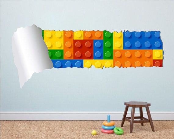 Spacious Lego Effect Style Torn Wall 385306 Home Design Ideas 570x455