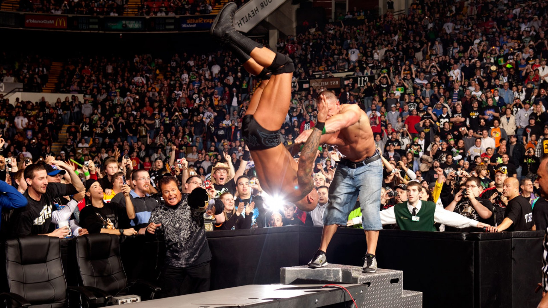 John Cena Fight Against The Rock WWE Wrestling HD Wallpaperjpg 1920x1080
