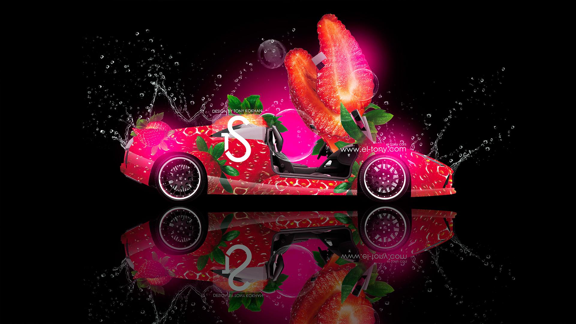 Lamborghini Murcielago Strawberry Fruit Car 2013 HD Wallpapers Design 1920x1080