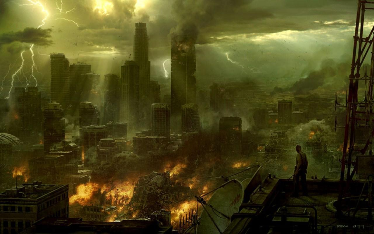 Destroyed City Backgrounds 1280x800