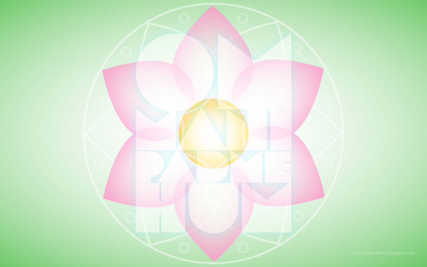 Desktop Buddhist Lotus and Guanyin Mantra   Buddhist Wallpaper 1440x900