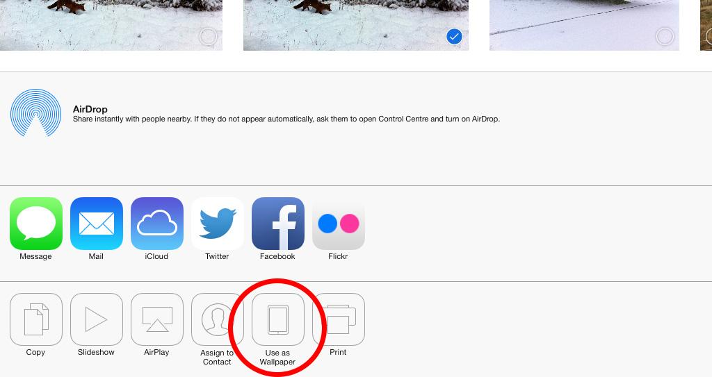 Use image as wallpaper iPad iOS 7 1024x543
