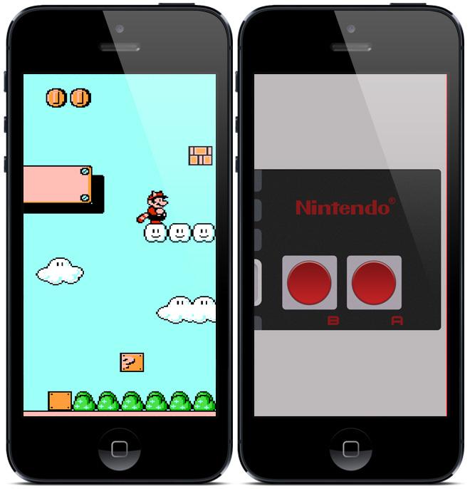 Bakgrunder till iPhone 5 med Nintendo tema 660x686