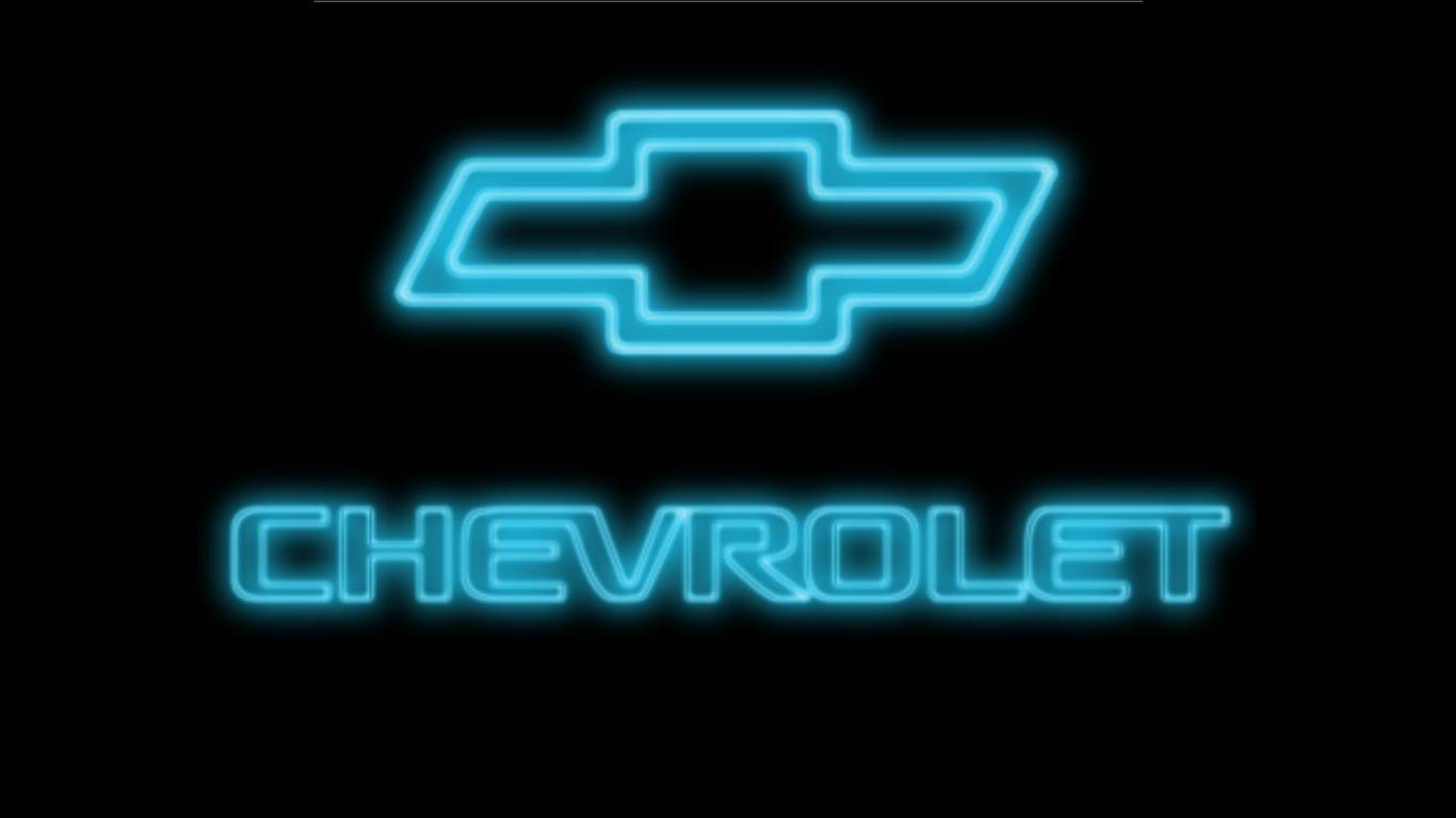 Blue Chevy Neon Logo wallpaper   ForWallpapercom 1366x768