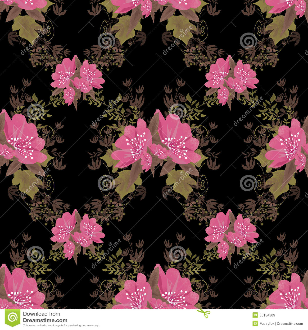 Pink and black flower wallpaper wallpapersafari pink and black flower backgrounds with pink flowers on black dhlflorist Choice Image
