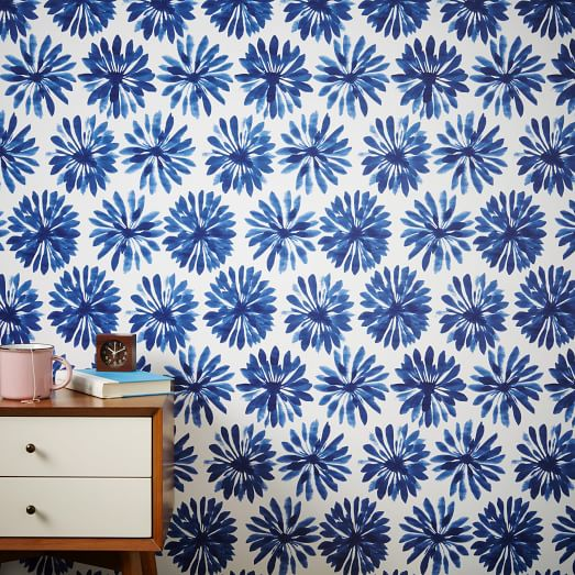 Chasing Paper Wall Panels Daisy Ink west elm 523x523