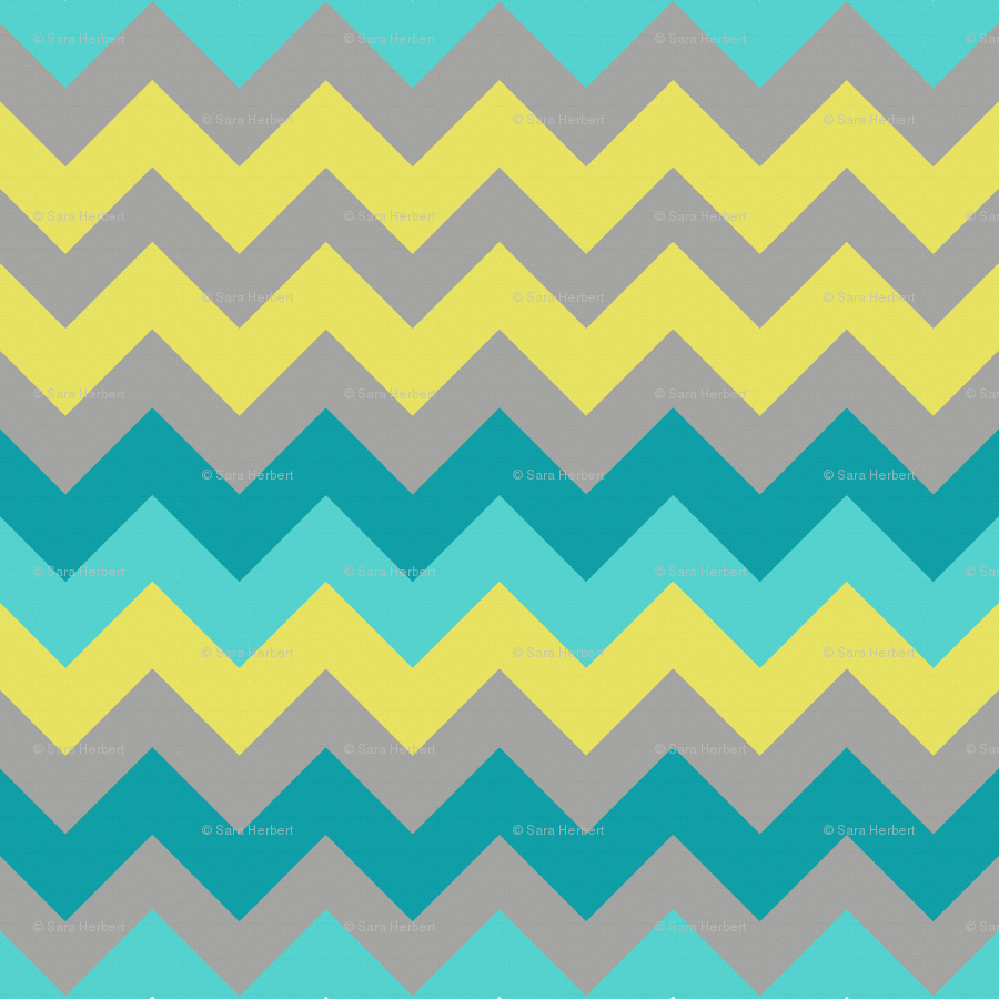 Yellow And Blue Chevron Background 900x900
