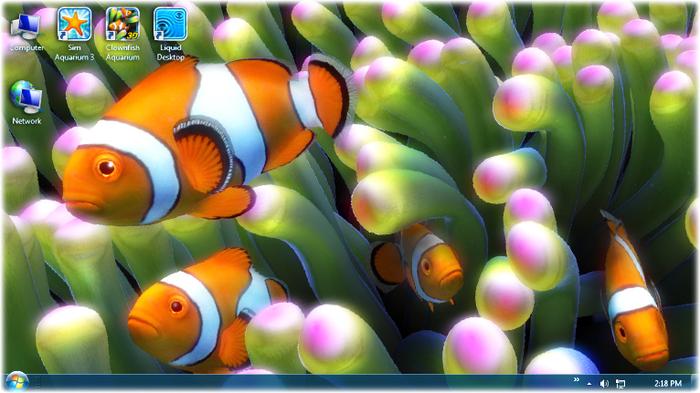 live fish wallpaper download s image title windows 7 desktop live 700x393