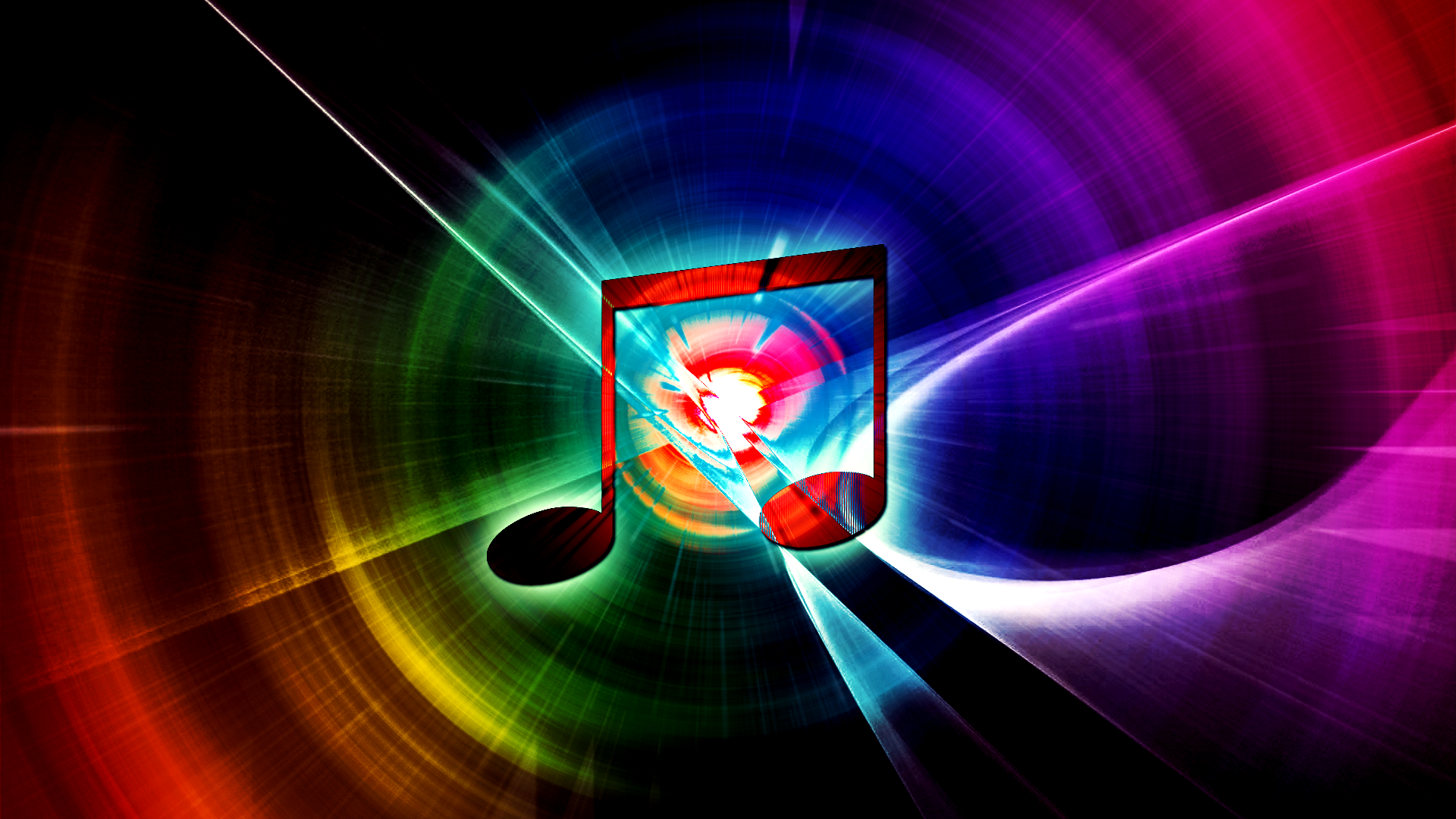 Awesome Music Wallpapers Rainbow music wallpaper 1920x1080