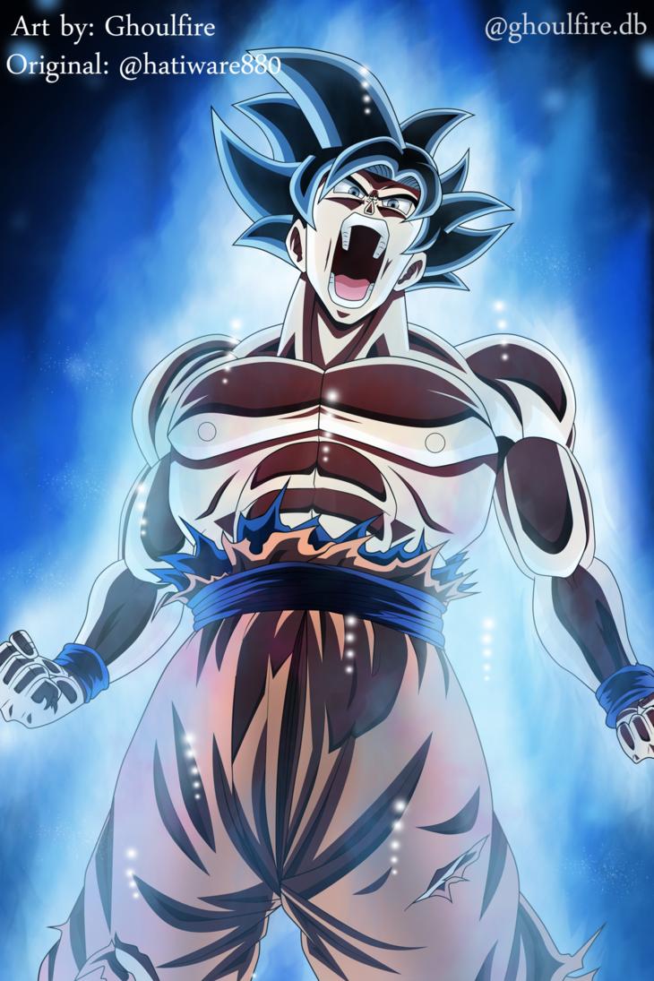 Ultra Instinct Goku by GhoulFire 730x1095