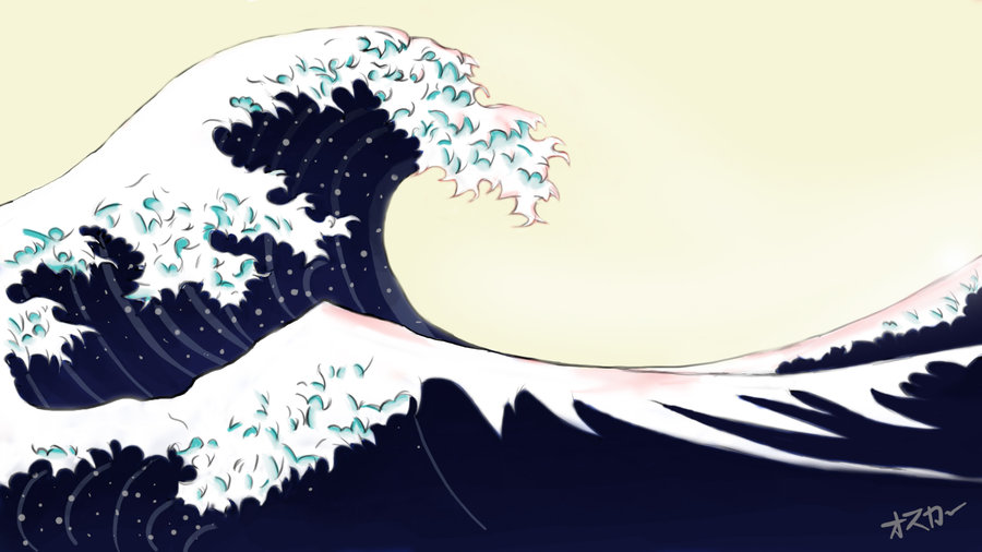 japanese waves by lilkao on DeviantArt