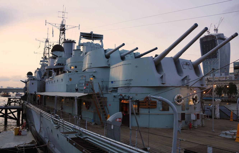 Wallpaper ship London Museum cruiser main caliber Belfast 1332x850