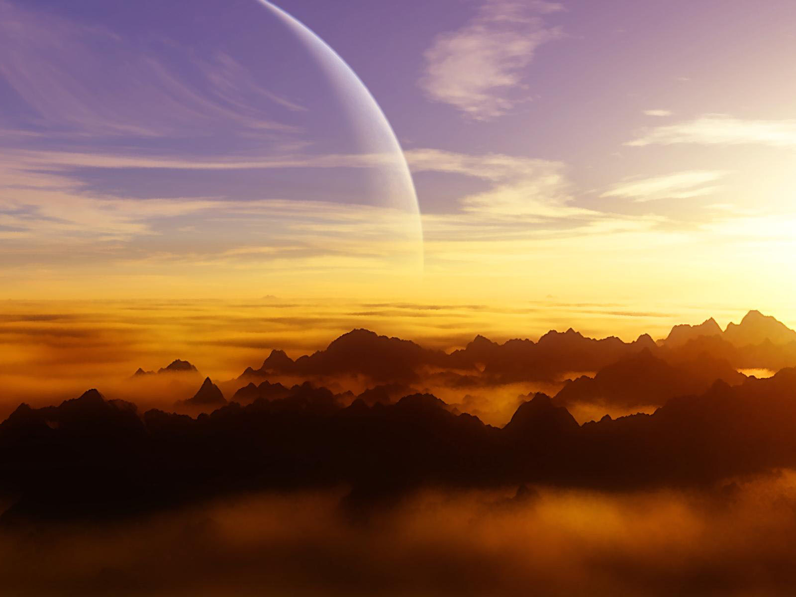 wallpapers Alien Sunset Wallpapers 1600x1200