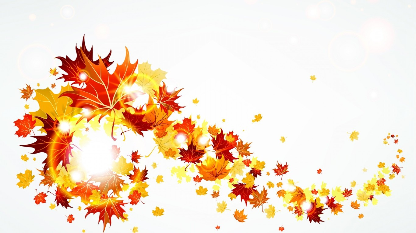 Swirling Autumn leaves wallpaper 4233 1366x768