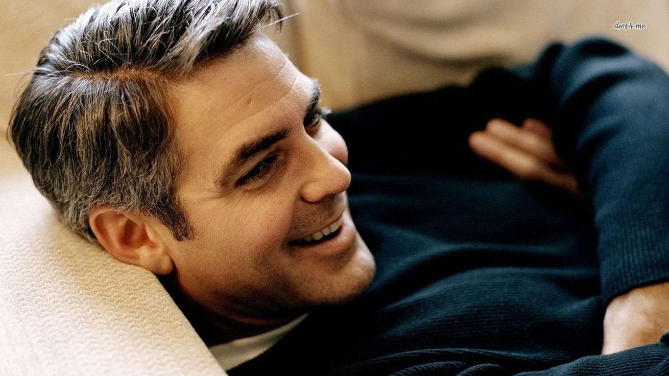 1366x768 George Clooney On Sofa Images 1366x768 Resolution 1366x768
