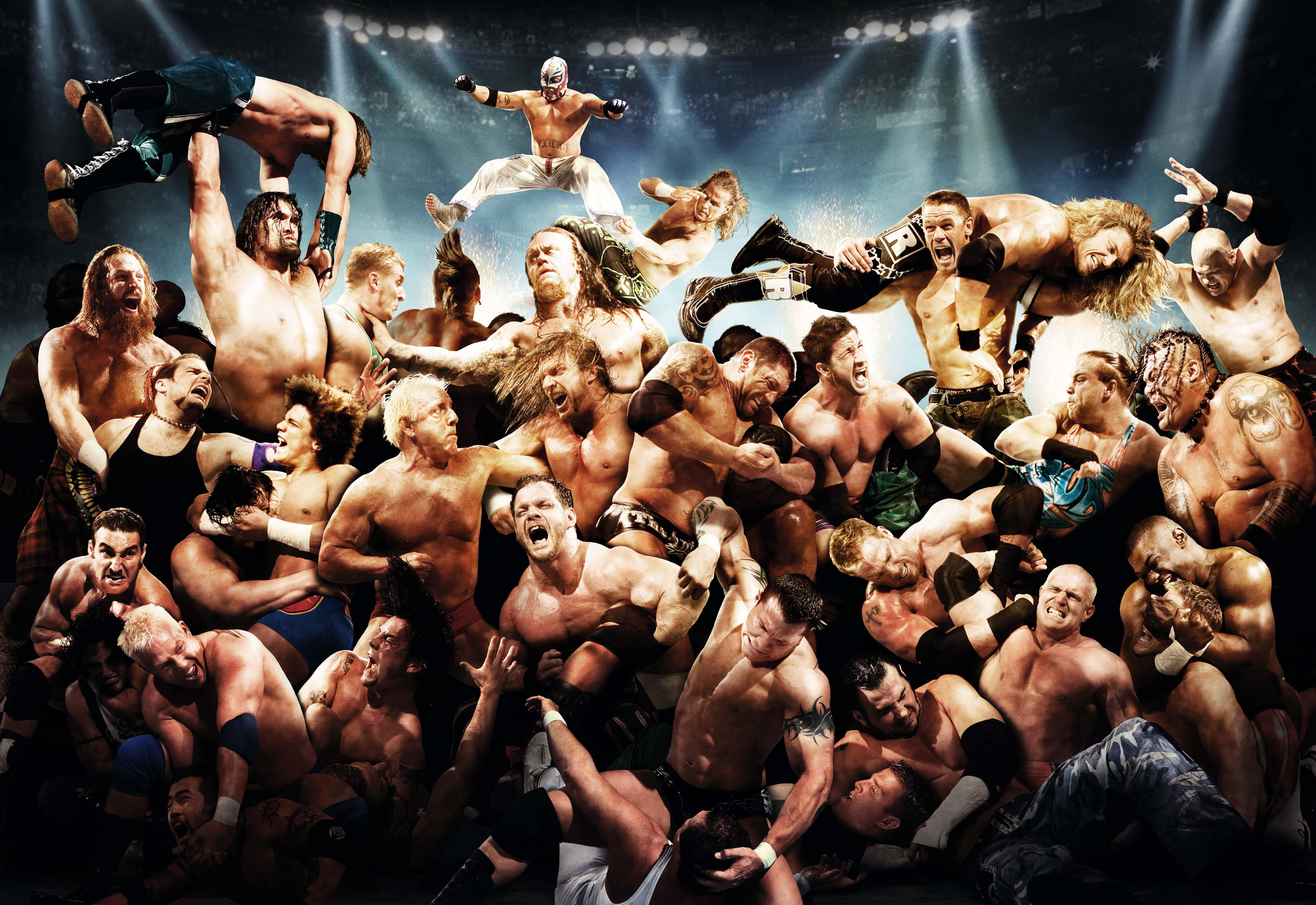Wallpaper raw wwe world wrestling entertainment rey mysterio john 5506x3787