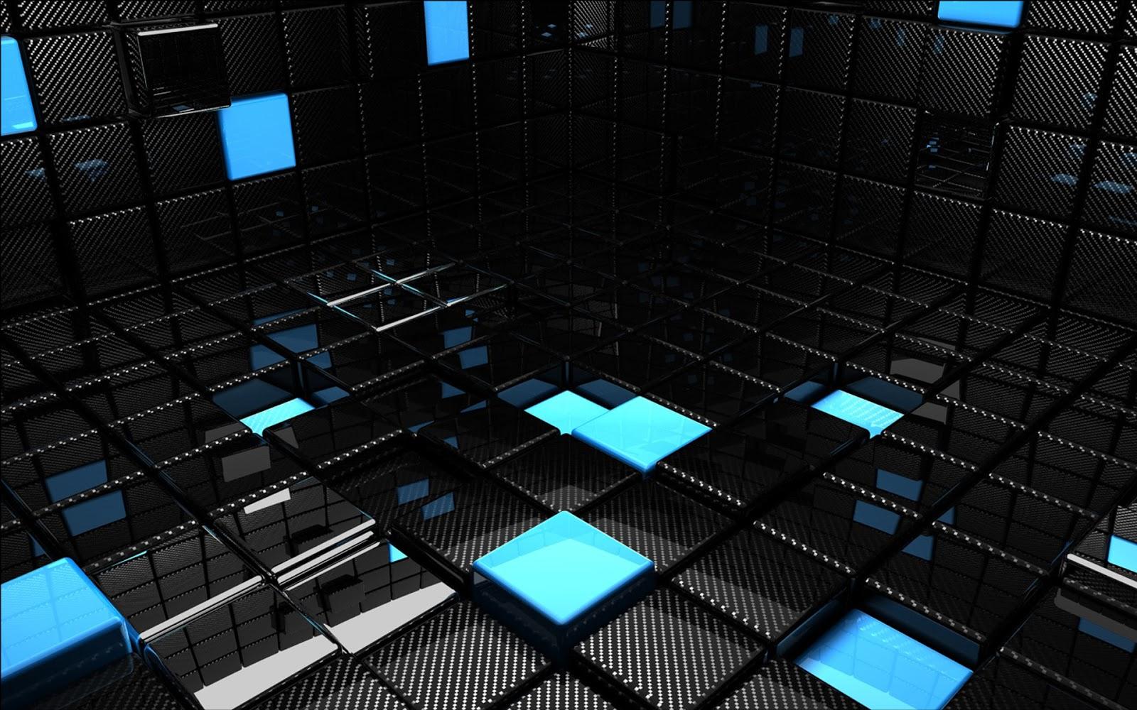 Black Wallpaper 3D 1600x1000
